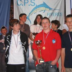 CdeFrance- podium cadet